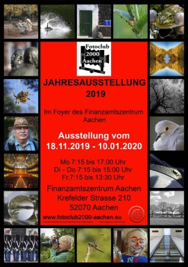 Plakat zur Jahresausstellung 2017 des Fotoclubs 2000 Aachen / © Peter Palm