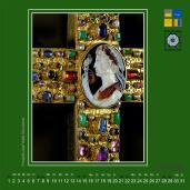 Dom, Aachen, Kalender, Kunstkalender, Kalenderblatt, Lotharkreuz, Schatzkammer, Domschatzkammer, Domkapitel, Aachener